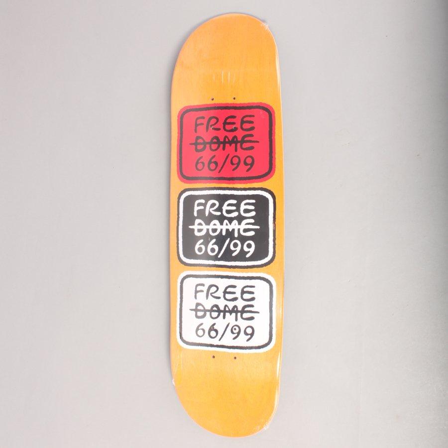 "Free Dome 66/99 Classic Yellow Skateboard Deck - 8,5"""