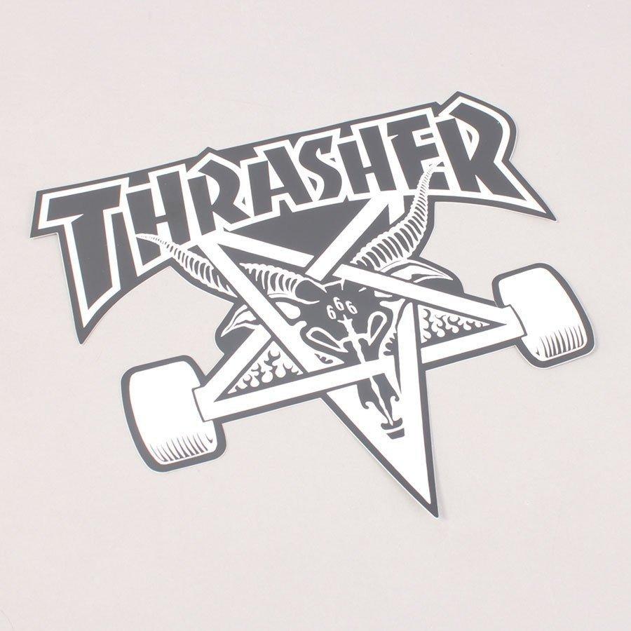 Thrasher Big Skategoat Sticker Black - 22 cm