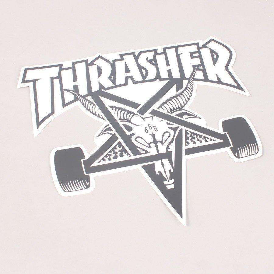 Thrasher Big Skategoat Sticker White - 22 cm