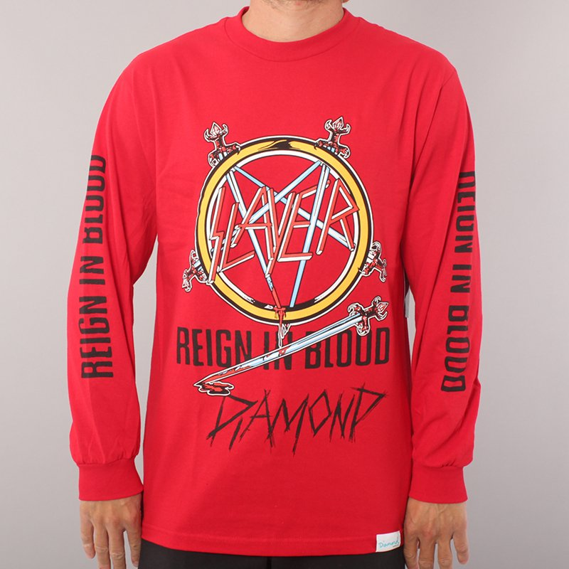 Diamond x Slayer Reign In Blood LS T-shirt - Red