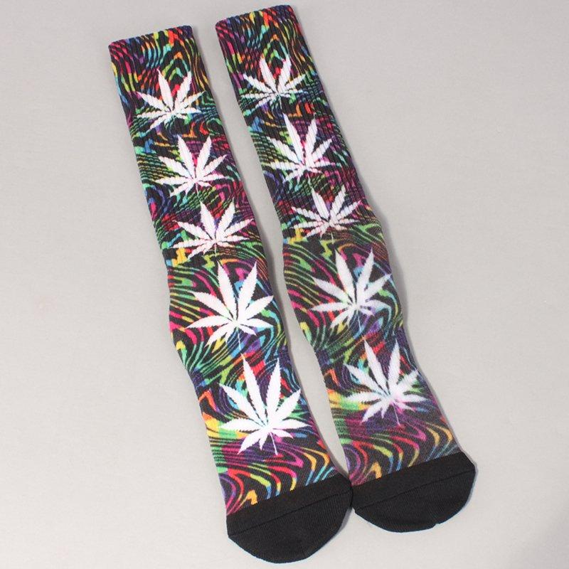 Huf Good Trip Plantlife Crew Socks - Black
