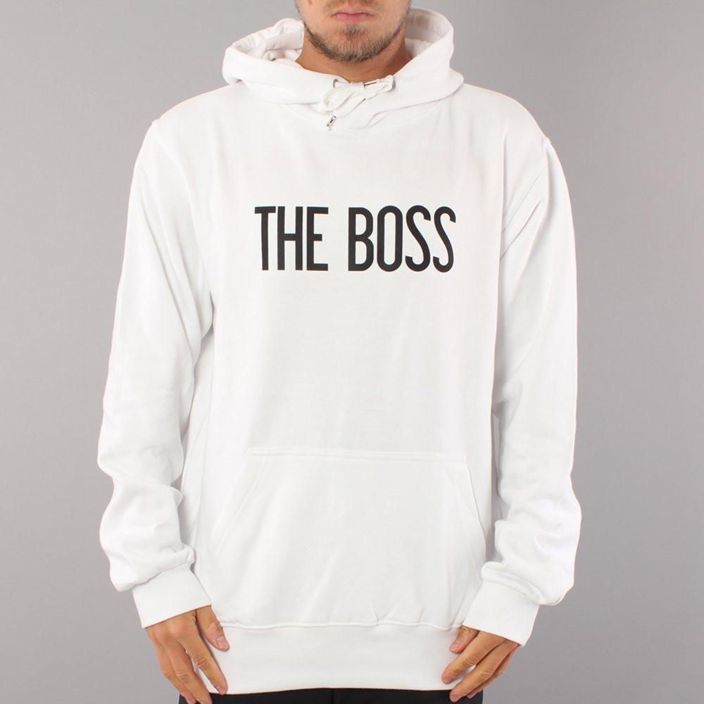 The Boss Logo Hood - White/Black