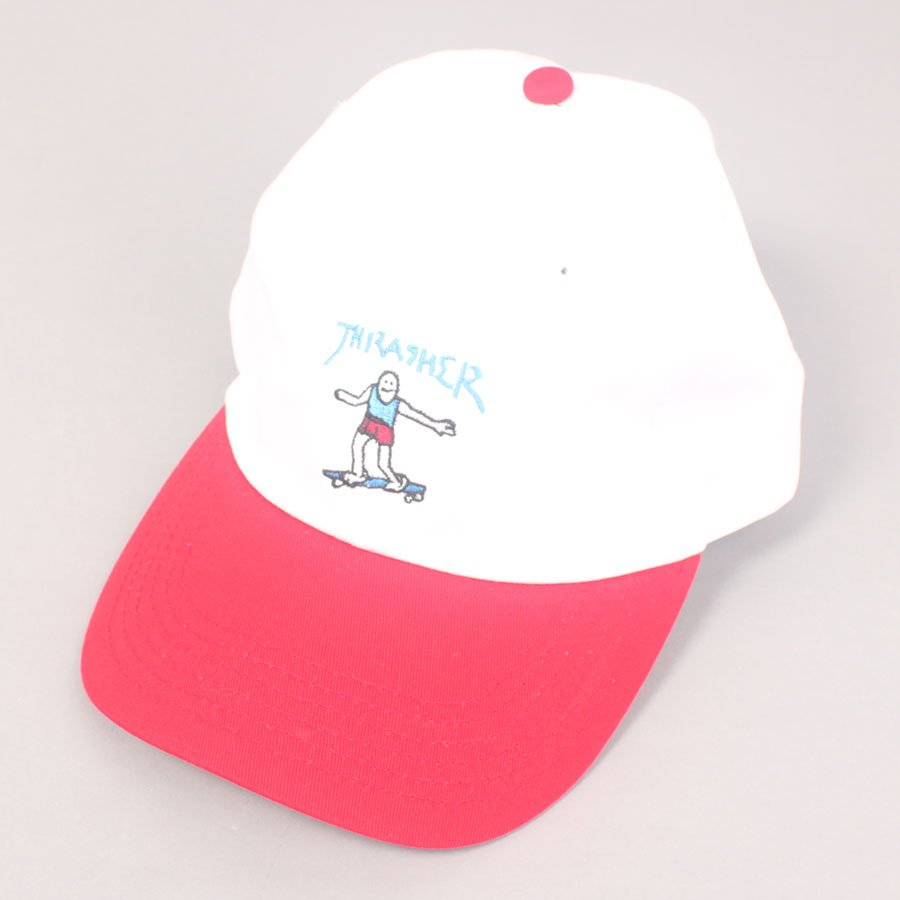 Thrasher Gonz Old Timer Hat - White/Red