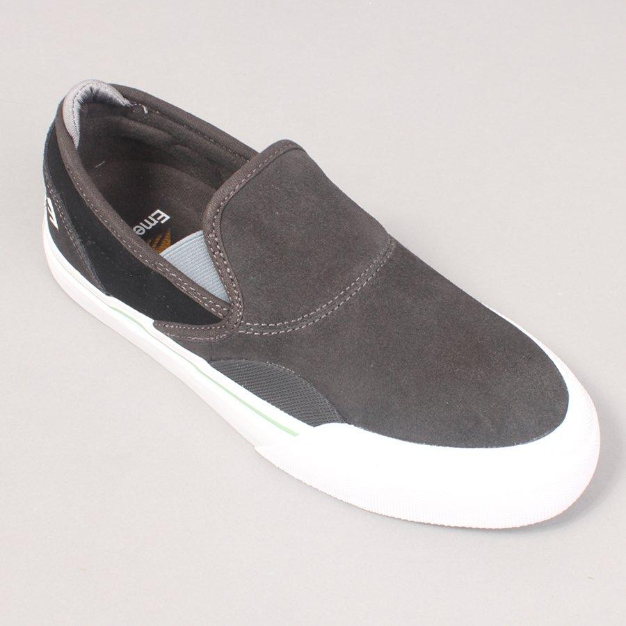 Emerica Wino G6 Slip On - Dark Grey/Black