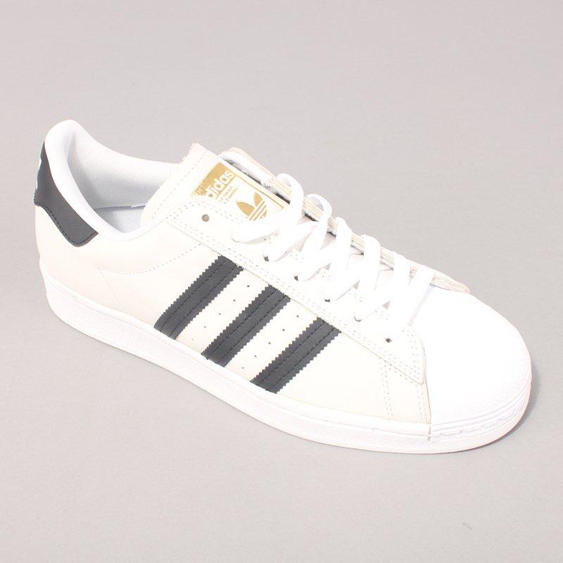 Adidas Skateboarding Superstar ADV - White/Black/Gold