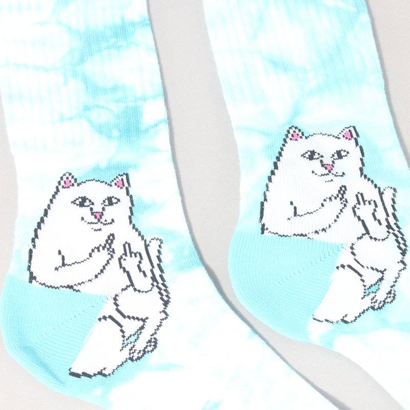 Rip N Dip Lord Nermal Socks - Blue Tie Dye