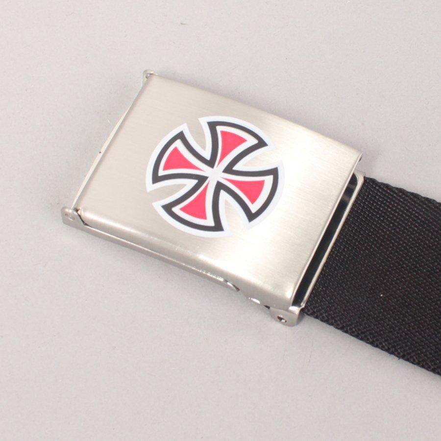 Independent Bar Cross Web Belt - Black