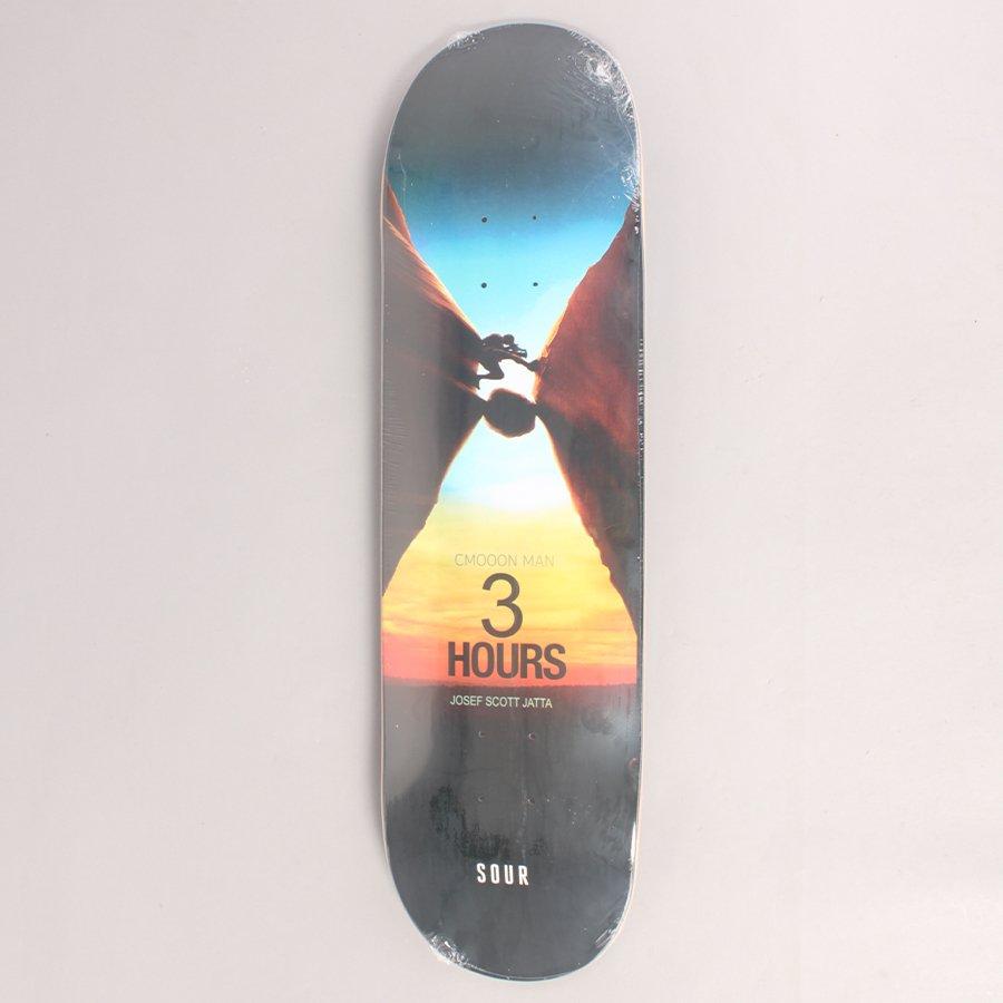"Sour Josef Scott 3 Hours Skateboard Deck - 8,50"""