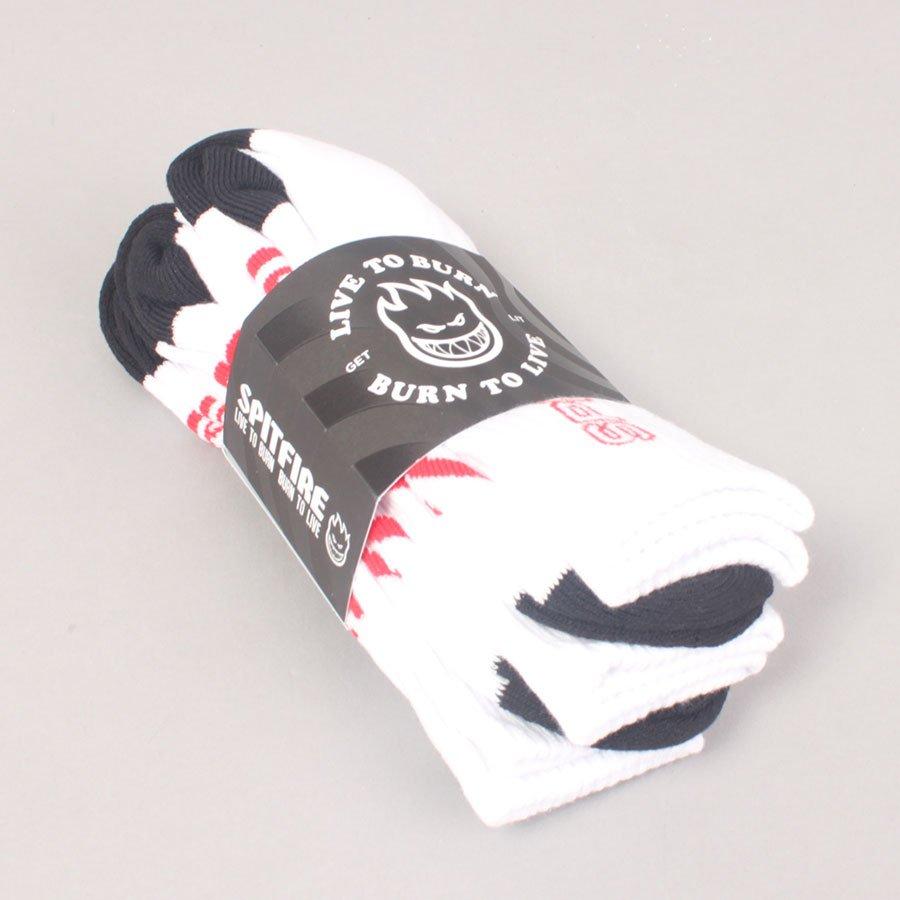 Spitfire Classic 87' 3-Pack Socks - White/Black/Red