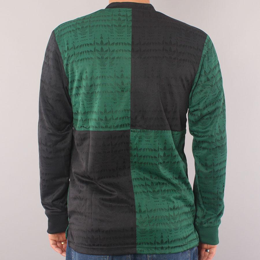 Adidas Skateboarding Checker Jersey LS T-shirt - Green/Black