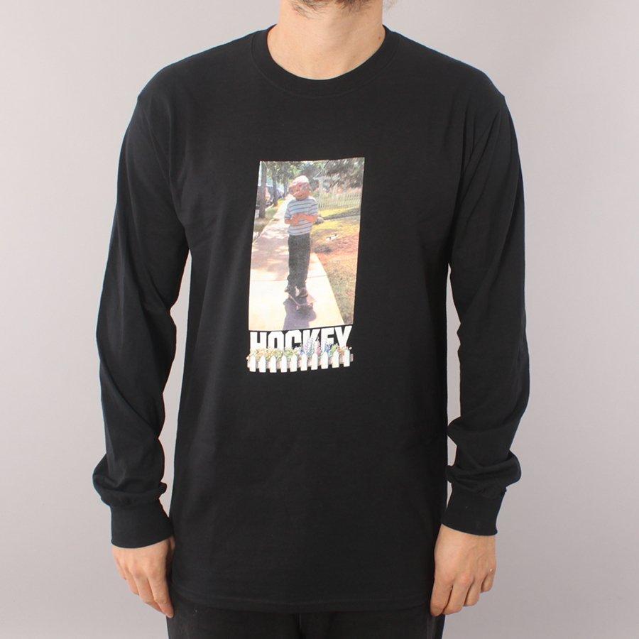 Hockey Neighbor LS T-shirt - Black-M