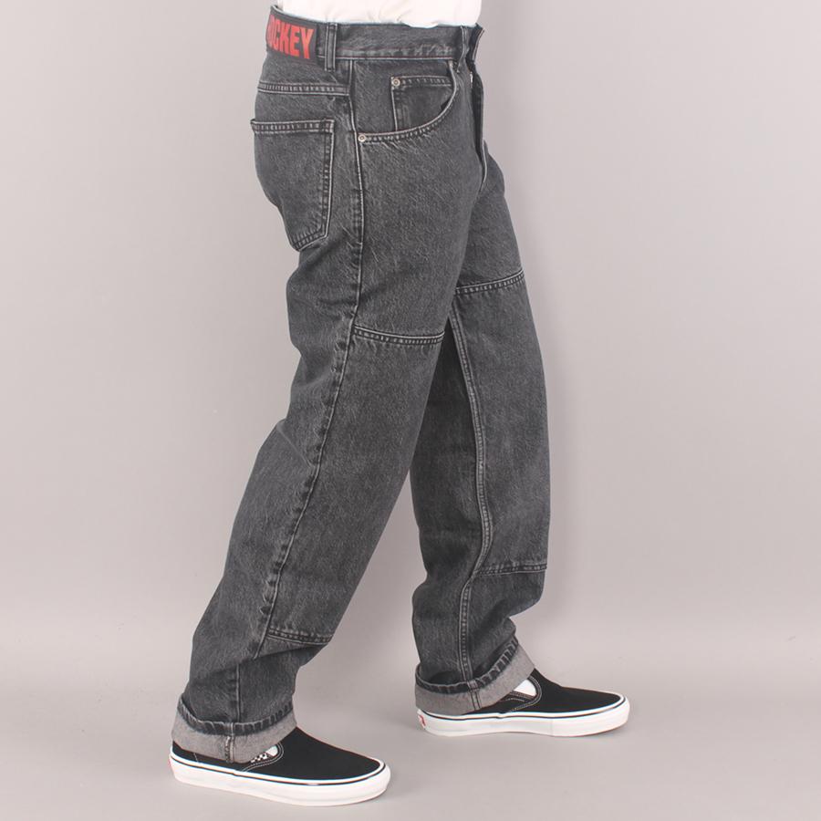 Hockey Double Knee Jeans - Black