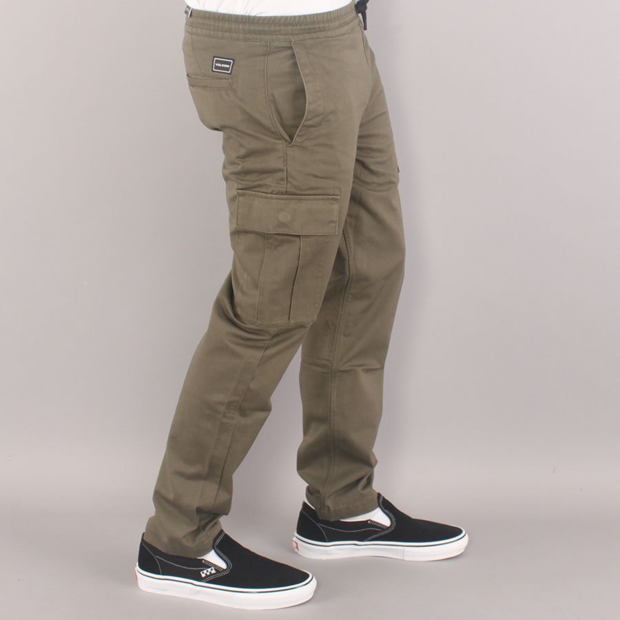Volcom March Youth Cargo Pants - Army Green