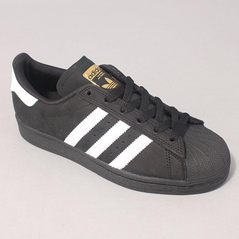 Adidas Skateboarding Superstar ADV - Black/White/Gold