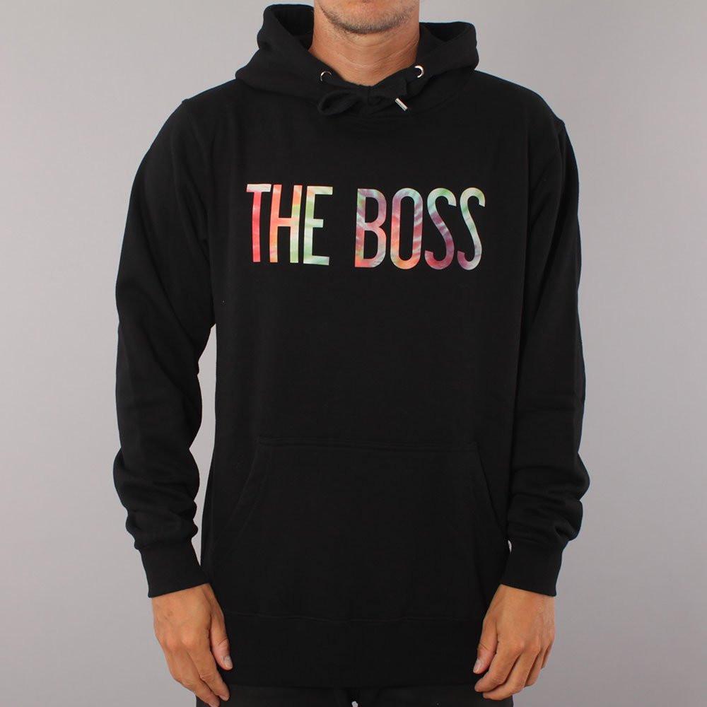 The Boss Tie Dye Logo Hood - Black
