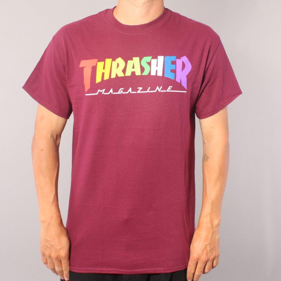 Thrasher Rainbow Mag T-shirt - Maroon