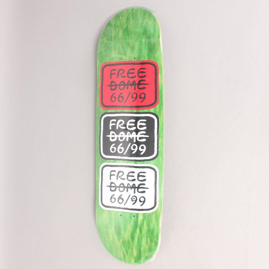 "Free Dome 66/99 Classic Green Skateboard Deck - 8,5"""