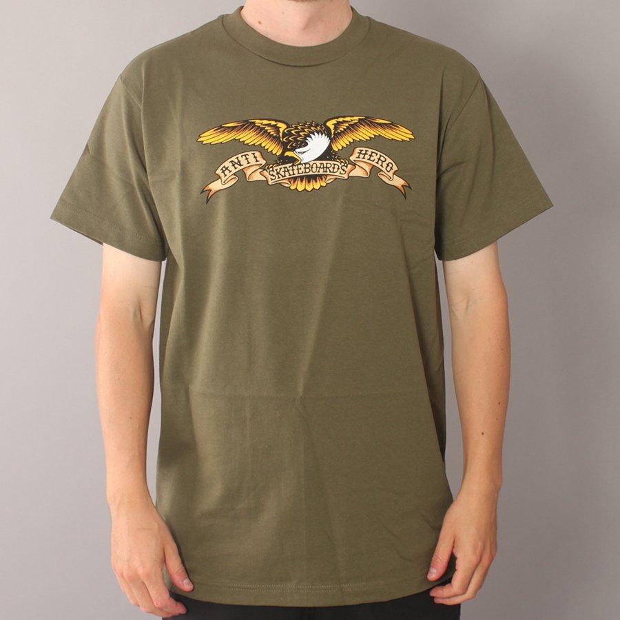 Anti Hero Eagle Youth T-shirt - Military Green-Youth Medium