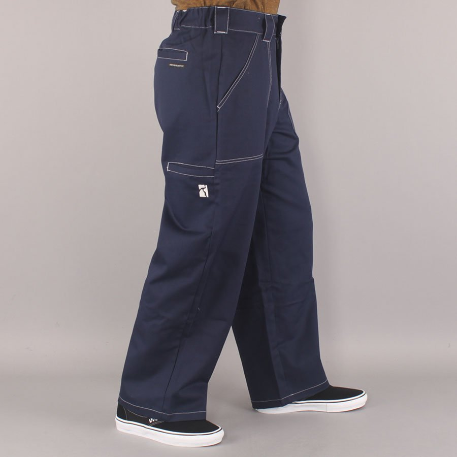 Poetic Collective Painter Pants - Navy/White Seems