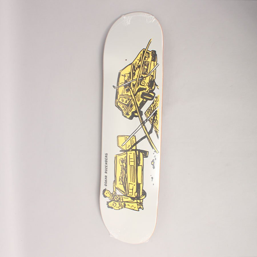 "Polar Oski Drivers Licence Grey Skateboard Deck - 8,25"""