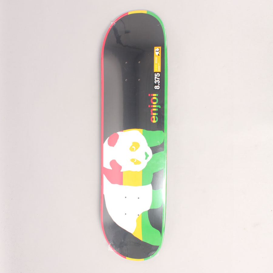 Enjoi Rasta Veneer Panda R1 Skateboard Deck