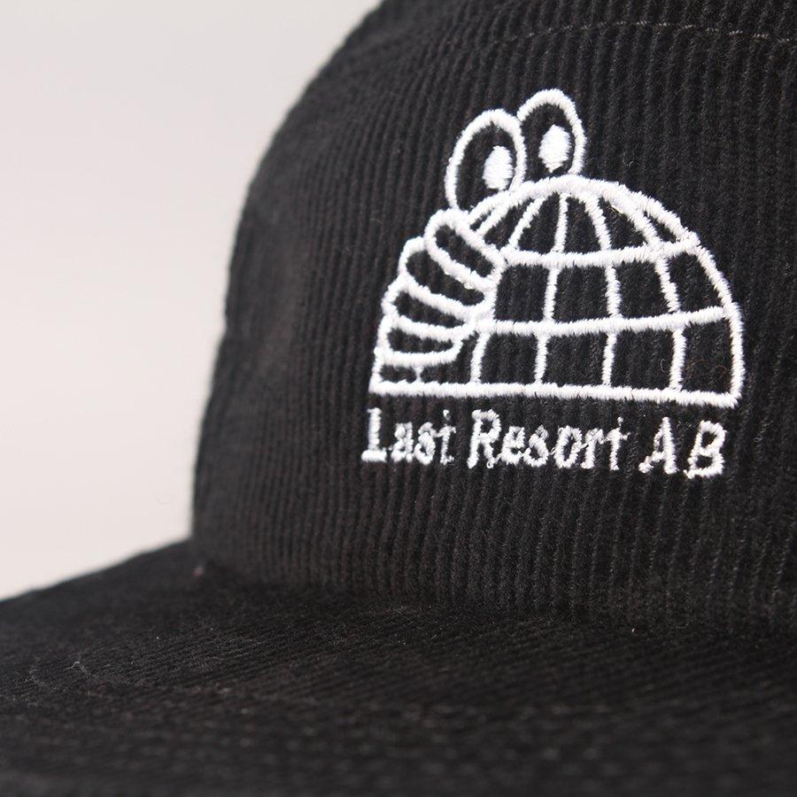 Last Resort AB Globe Cord 5-Panel Cap - Black