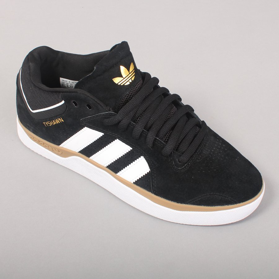 Adidas Skateboarding TYSHAWN - Black/White/Gum-12,5