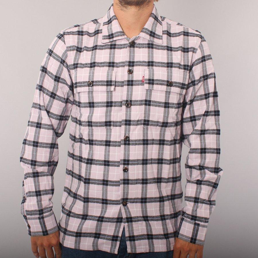 Levi's skateboarding LS Work Shirt - Pink/Black