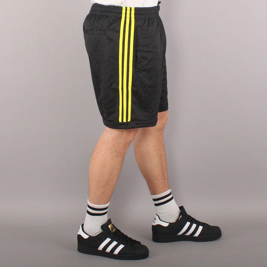 Adidas Skateboarding Athletic Shorts - Black/Yellow