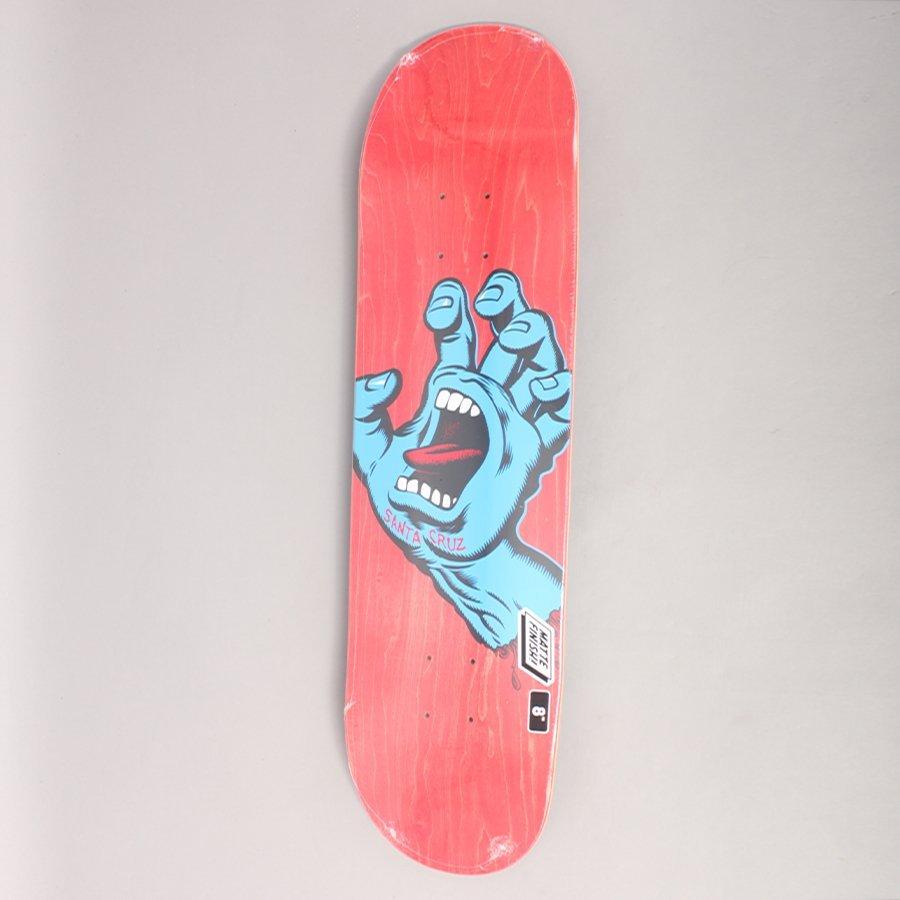 "Santa Cruz Screaming Hand Red Skateboard Deck - 8,00"""