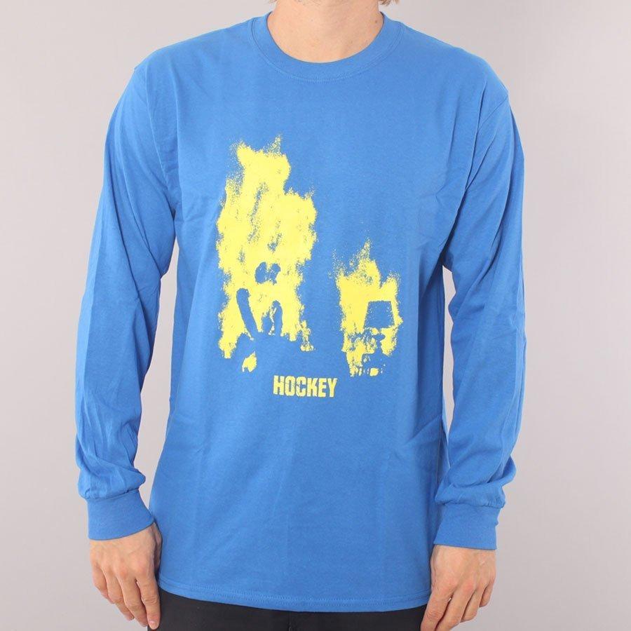 Hockey At Ease LS T-shirt - Royal Blue-S
