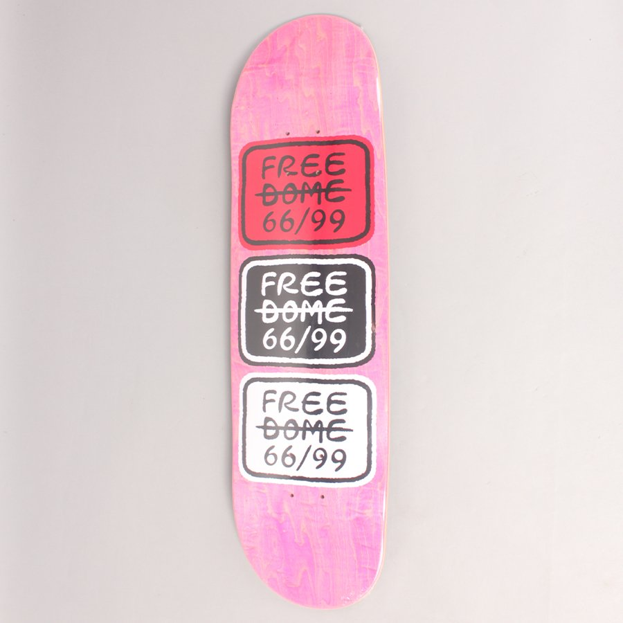 """Free Dome 66/99 Classic Pink Skateboard Deck - 8,5"""""""