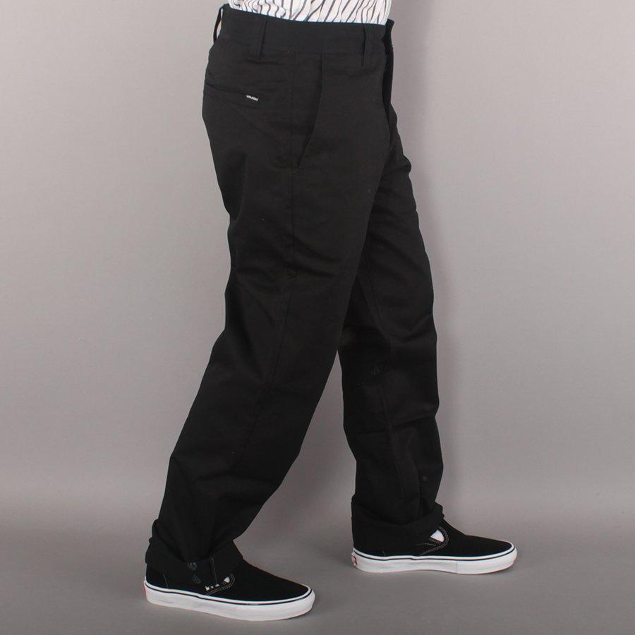 "Volcom Frickin Skate Baggy Chino 18"" Pants - Black"