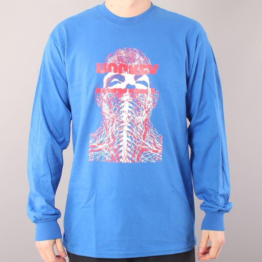 Hockey Nerves LS T-shirt - Royal Blue-XL