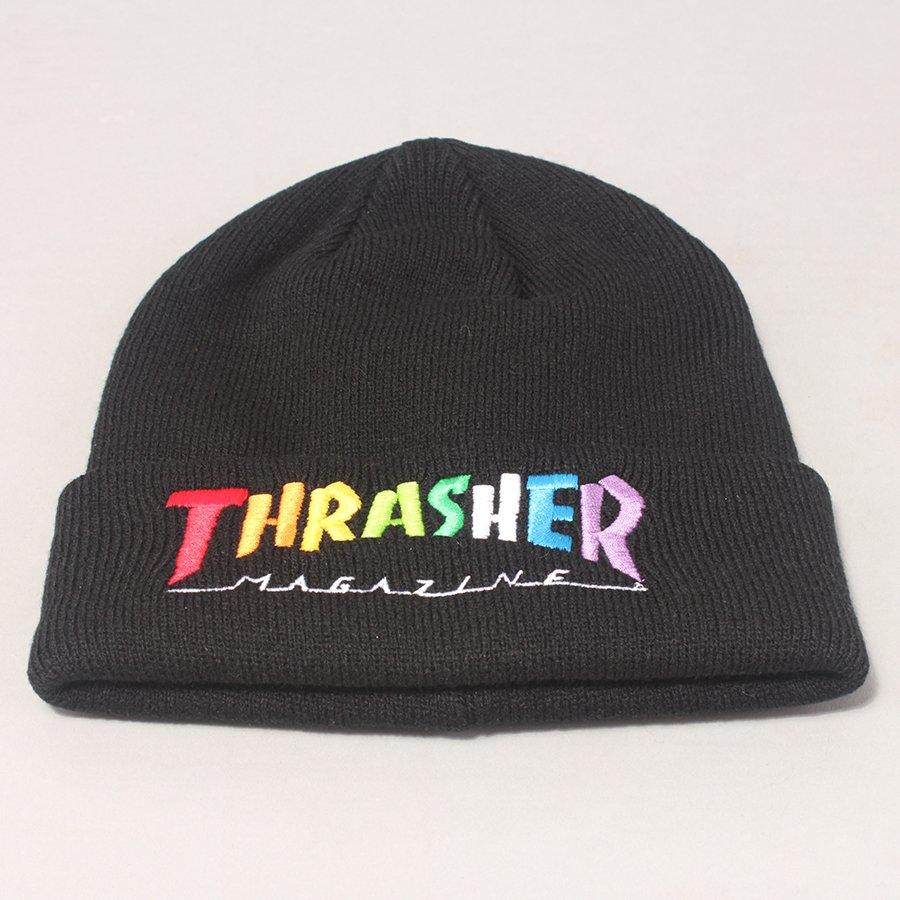 Thrasher Rainbow Mag Logo Beanie - Black