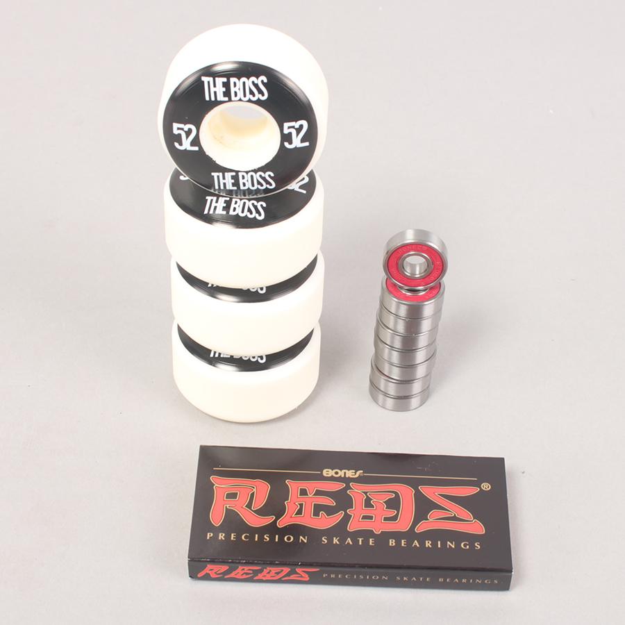 The Boss Wheels 52mm + Bones Reds Bearings