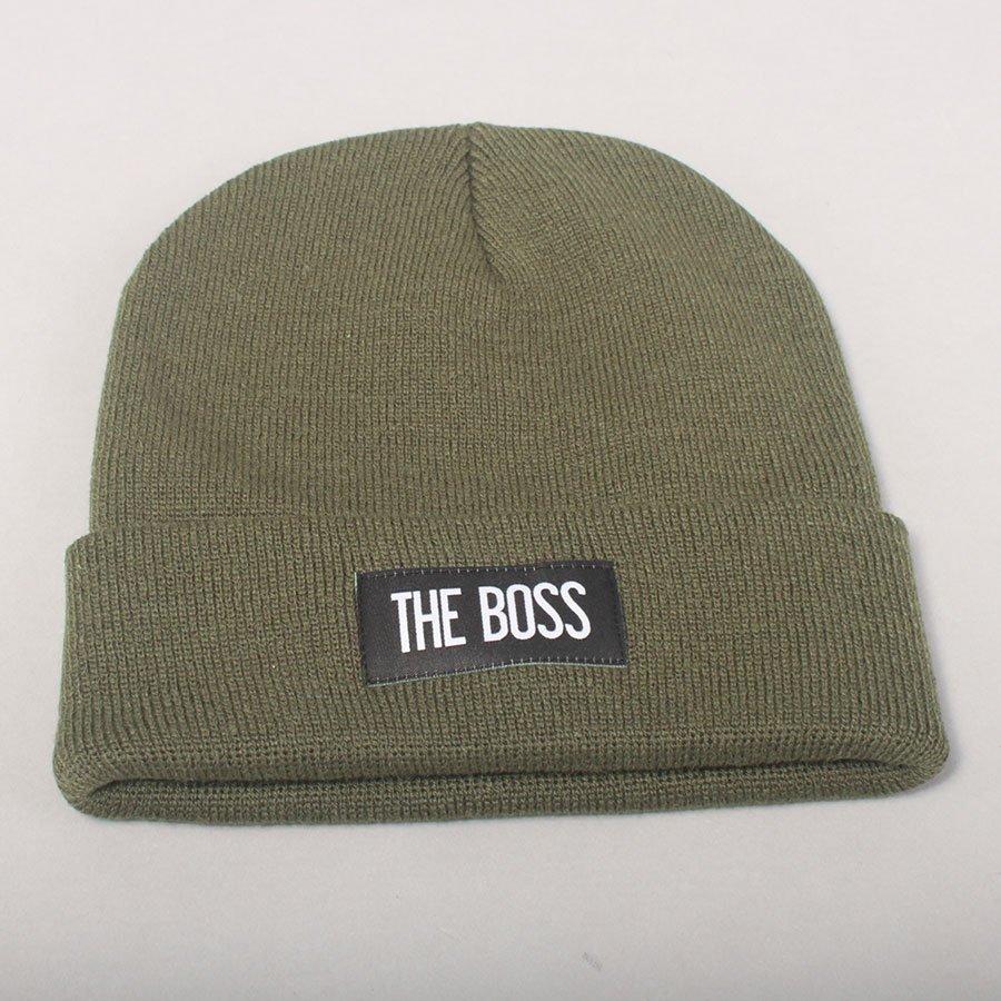 The Boss Logo Beanie - Olive