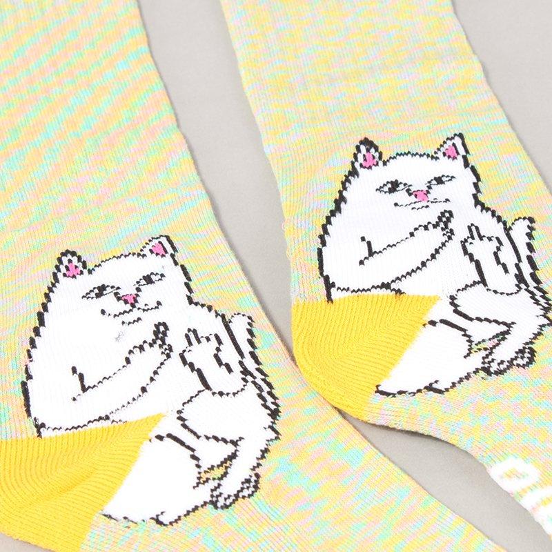 Rip N Dip Lord Nermal Socks - Gold Rainbow
