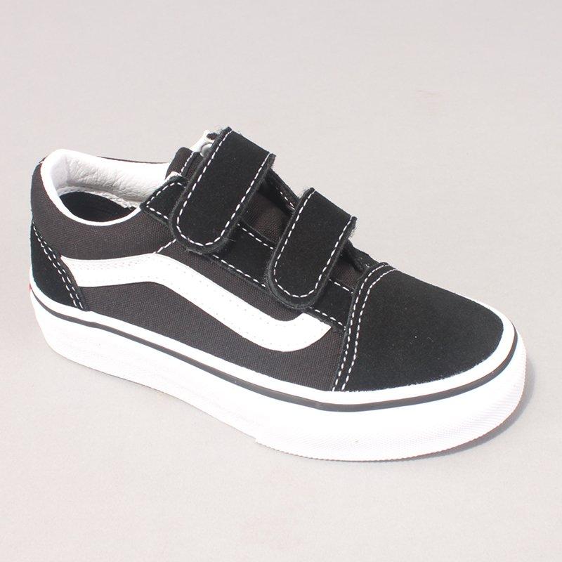 Vans Old Skool Youth Velcro - Black/White