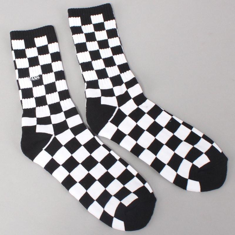 Vans Checkerboard Crew Socks - Black/White
