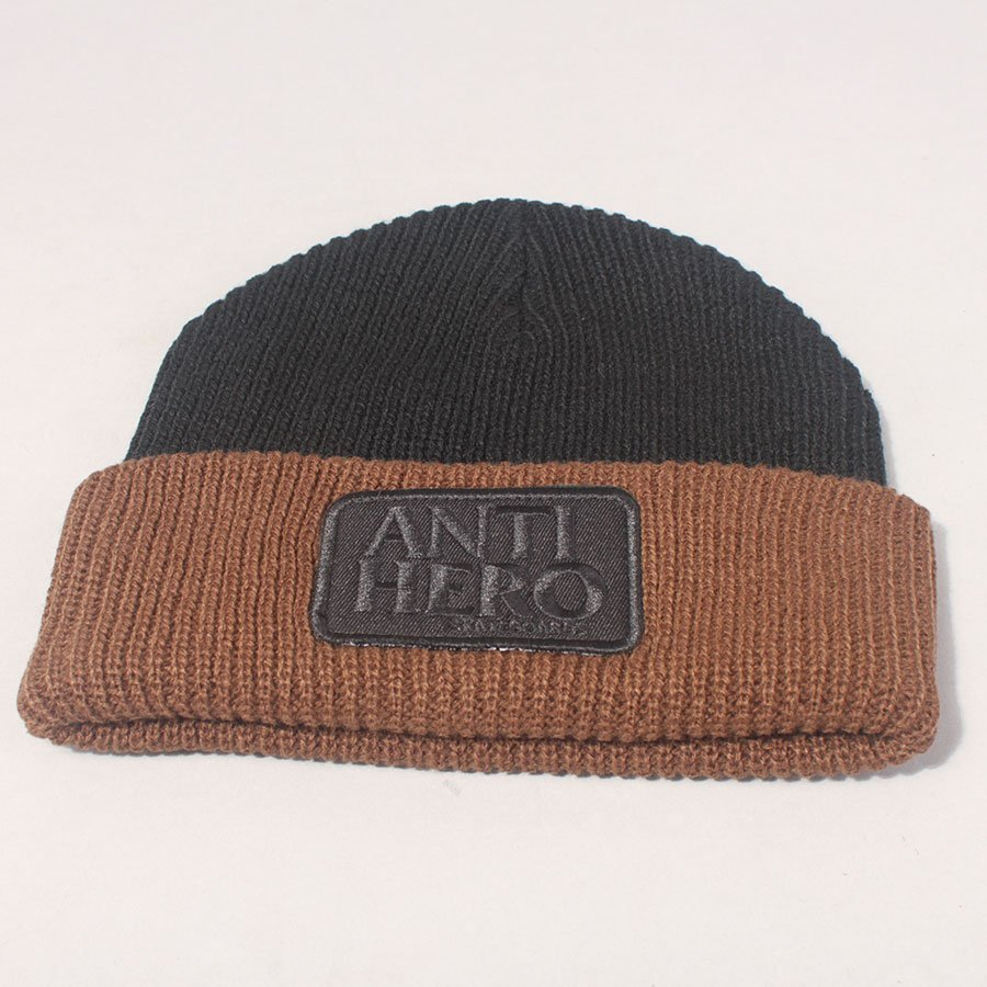 Anti Hero Reserve Patch Beanie - Black/Brown