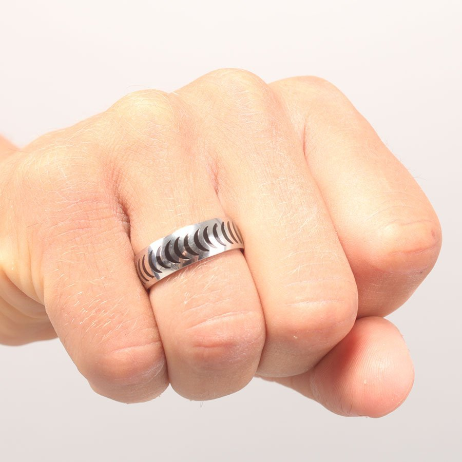 Spitfire Crescent Stainless Steel Ring