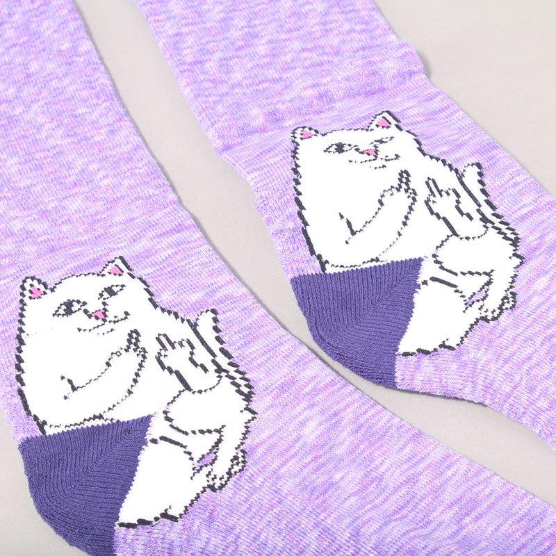 Rip N Dip Lord Nermal Socks - Purple Speckle