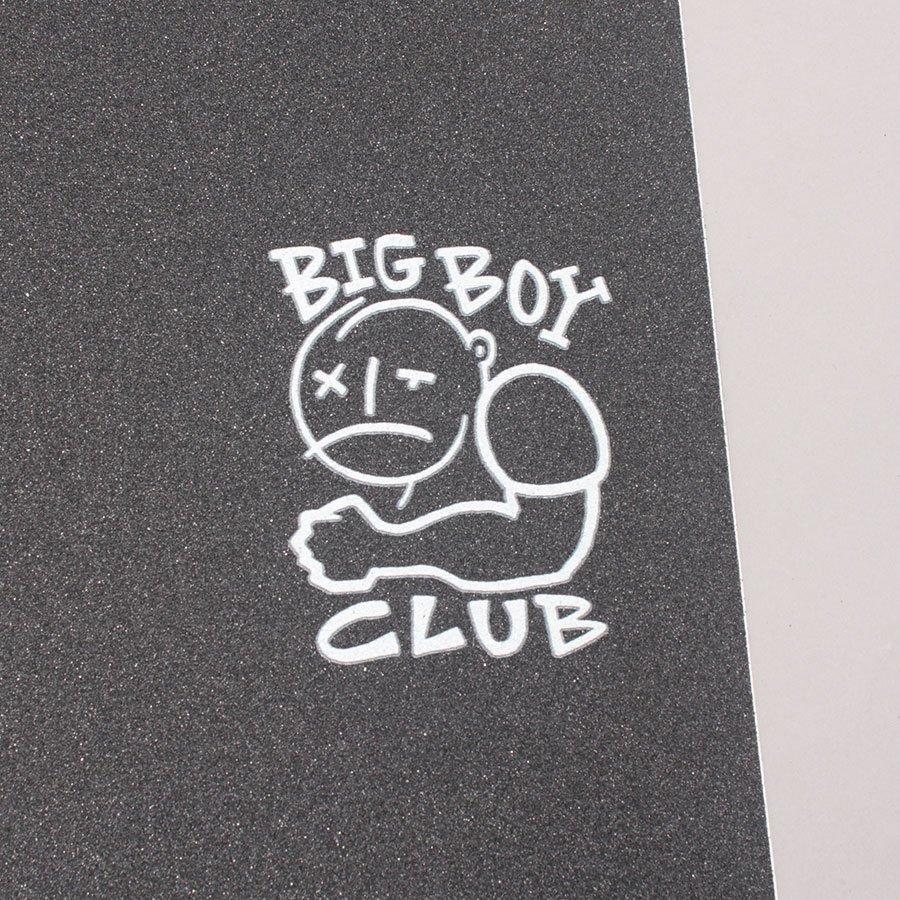 Polar Skate Co Big Boy Club (White Print) Griptape - Black