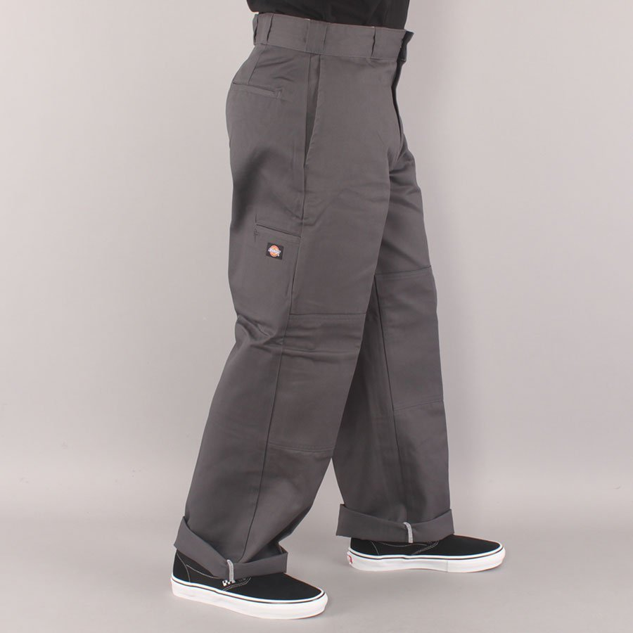 Dickies Double Knee Twill Work Pant Chino - Charcoal Grey-29/30