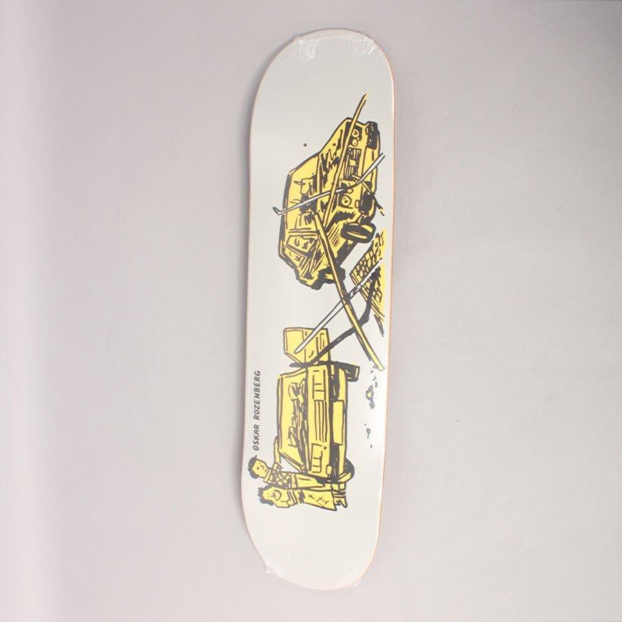 "Polar Oski Drivers Licence Grey Skateboard Deck - 7,875"""