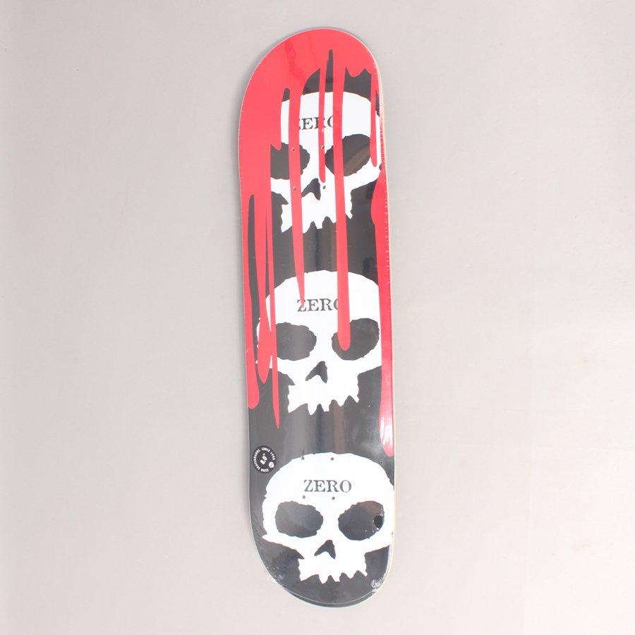 "Zero 3 Skull Bloody Nose Skateboard Deck - 8,00"""