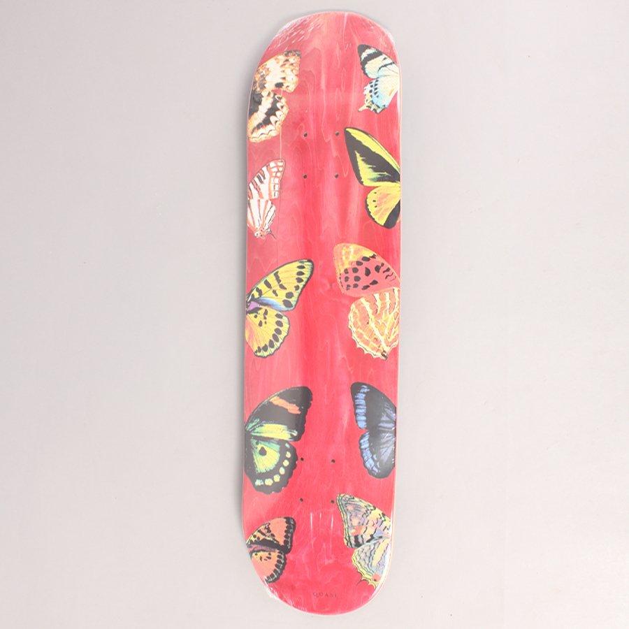 "Quasi Butterfly Red Skateboard Deck - 8,00"""