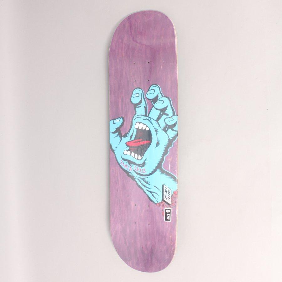 "Santa Cruz Screaming Hand Purple Skateboard Deck - 8,375"""