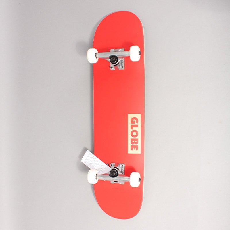 "Globe Goodstock Red Complete Skateboard - 7,75"""